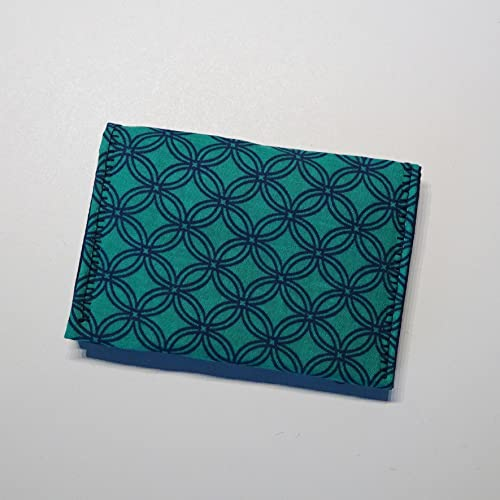 Amazon business card wallet fold over small fabric wallet business card wallet fold over small fabric wallet pocket wallet for the essentials colourmoves