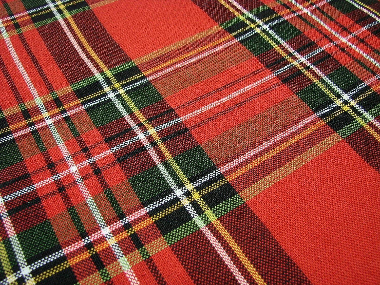 rt-e102 Bardwil Linens Timely Tartan Red 60 x 102 Rectangular Tablecloth Roya...