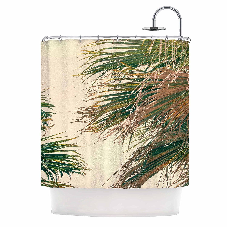 Kess InHouse Ann Barnes Summer Lovin Green Pink 69 x 70 Shower Curtain
