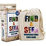 Hapinest Find and Seek Scavenger Hunt Outdoor Indoor Card Game for Kids
