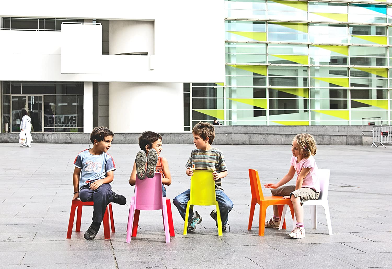 Naranja resol Julieta Set Infantil de 2 Sillas y 1 Mesa 60x51x78 cm