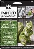 FolkArt Painted Finishes Art Paint Set (2-Ounce), 5068 Light Moss/Dark Moss Carded