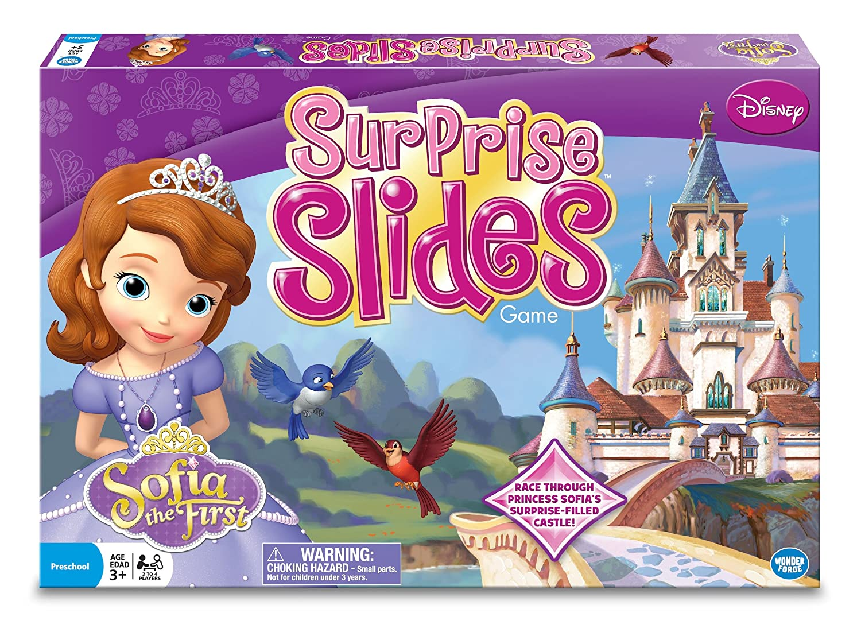 amazon com wonder forge princess sofia surprise slides board game