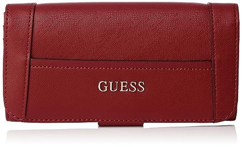 taglia 40 f9b55 71a0c Guess - Porta Carte di Credito Donna, Rosso (Rojo), Taille ...