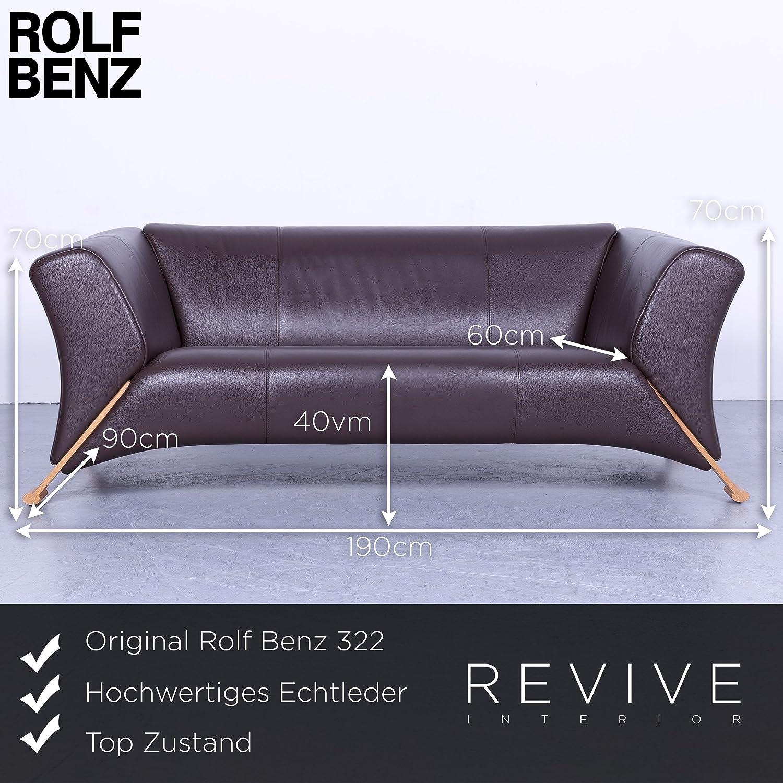 Amazon.de: Rolf Benz 322 Designer Leder Sofa Garnitur braun ...