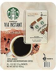 Starbucks Via Instant Medium Roast Colombia Coffee 26 Count