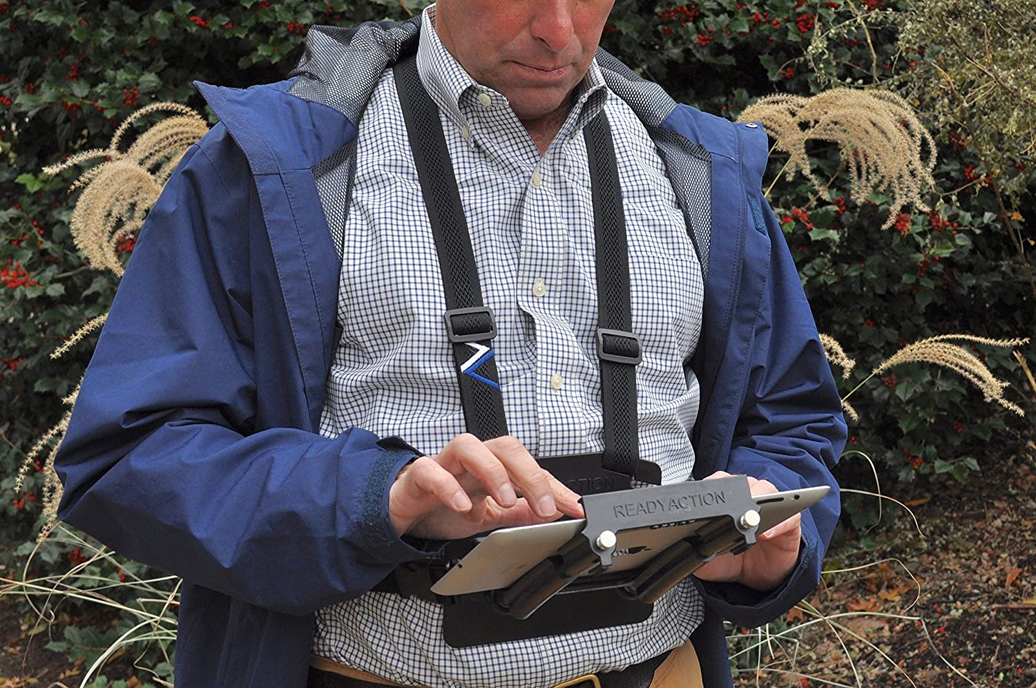 READYACTION Office - Chest Harness for iPad Air, iPad Mini, Surface Pro and Similar Tablets