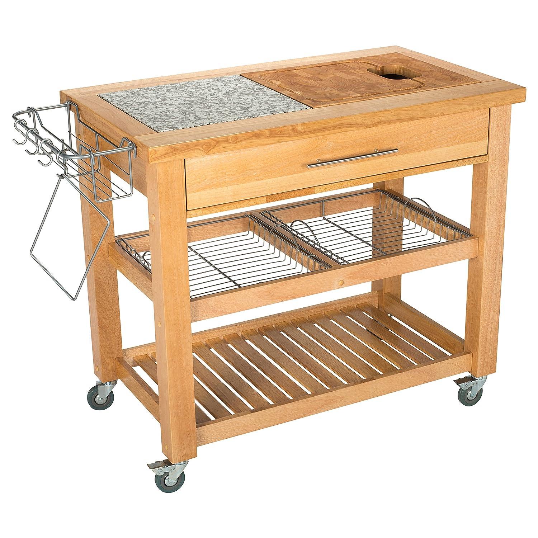 Amazon.com: Chris & Chris Jet1223 Pro Chef Kitchen Work Station, 23 ...