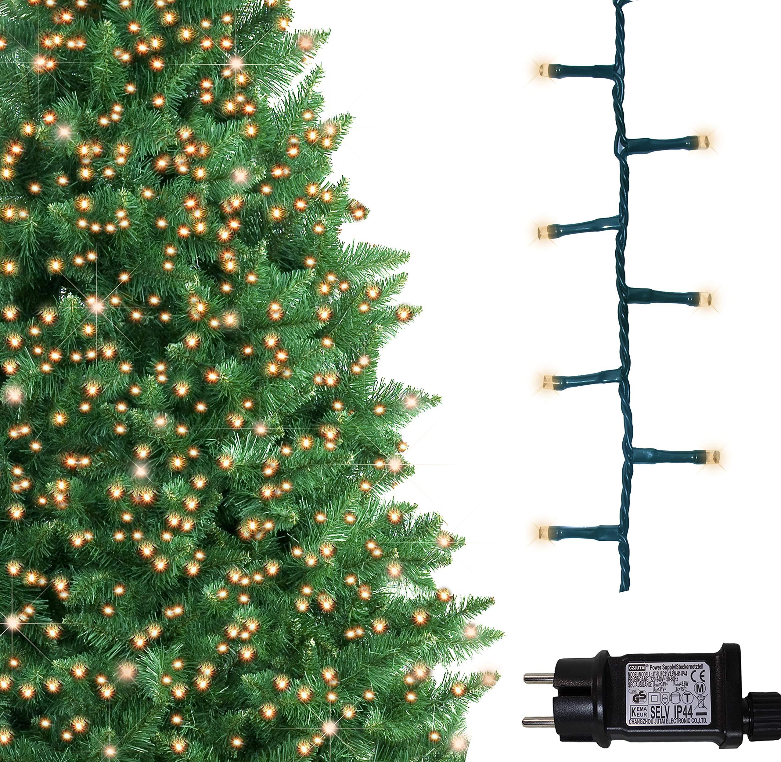 3d462d12956e6 500 luces LED brillantes del árbol Luces blancas del árbol Luces de luces  navideñas para uso en interiores y exteriores