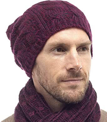 Tom Franks Women/'s Cable Knit Beanie Hat OR Scarf OR Beanie Hat with Scarf