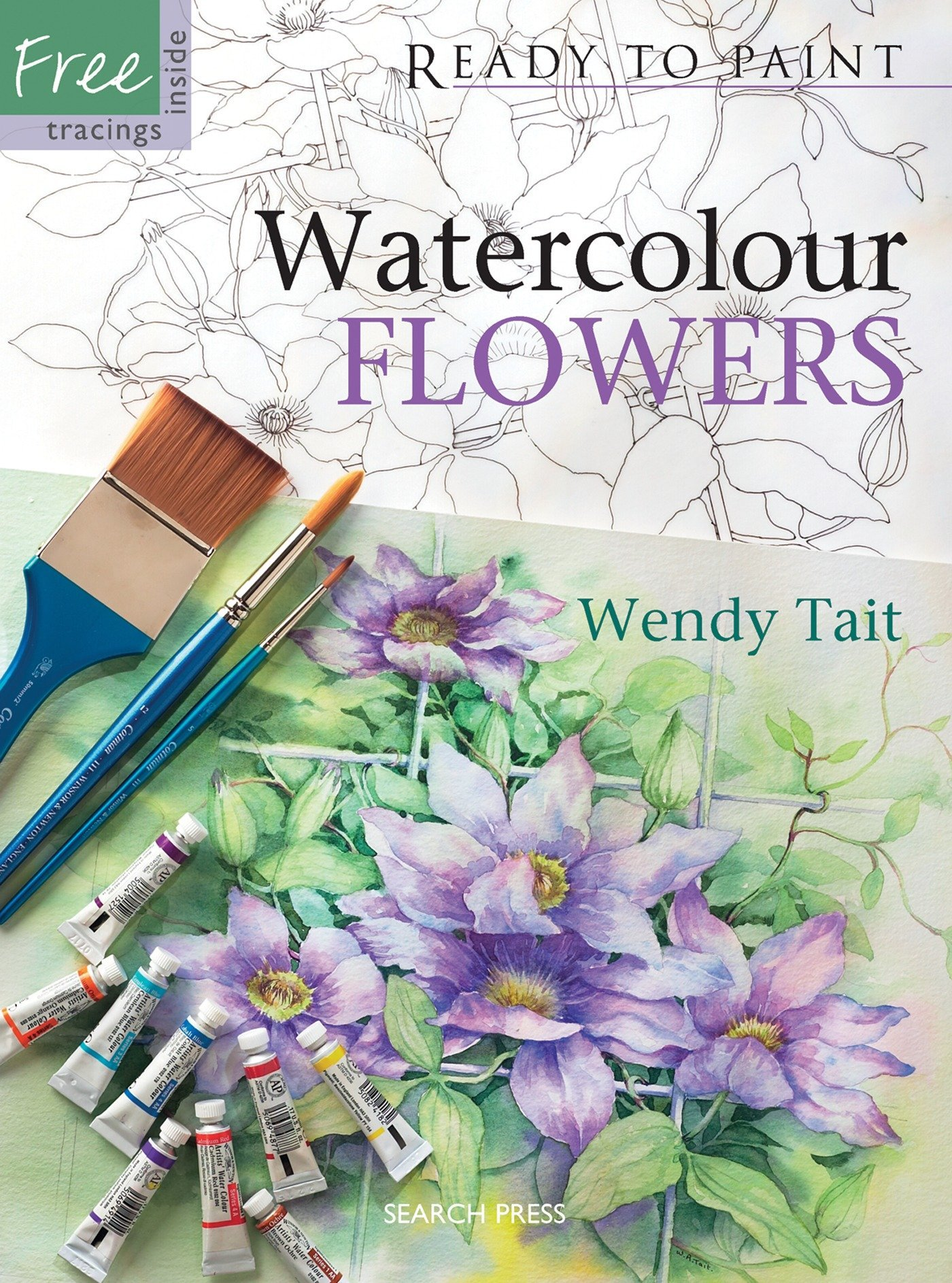 Watercolour Flowers Ready Paint Wendy product image