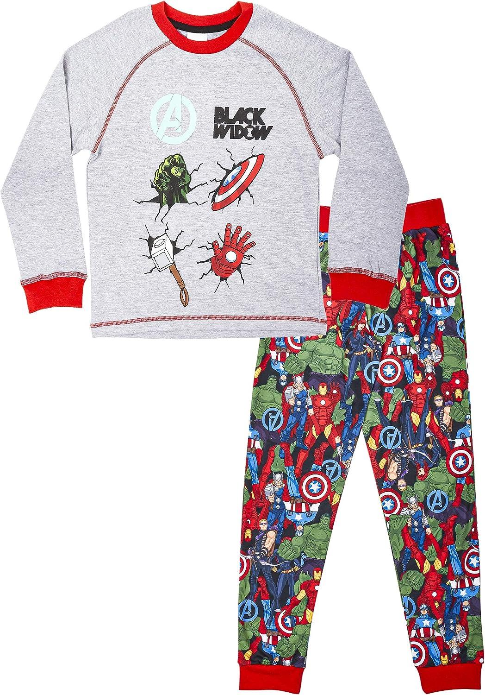 Marvel Avengers Pijama Niño Invierno 3-14 años de Los Vengadores, Pijama Dos Piezas Manga Larga con Los Guardianes De La Galaxia, Regalos Originales de Capitán América para Niños: Amazon.es: Ropa y accesorios