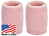 Unique Sports Thick Wristbands, One Size, Pink