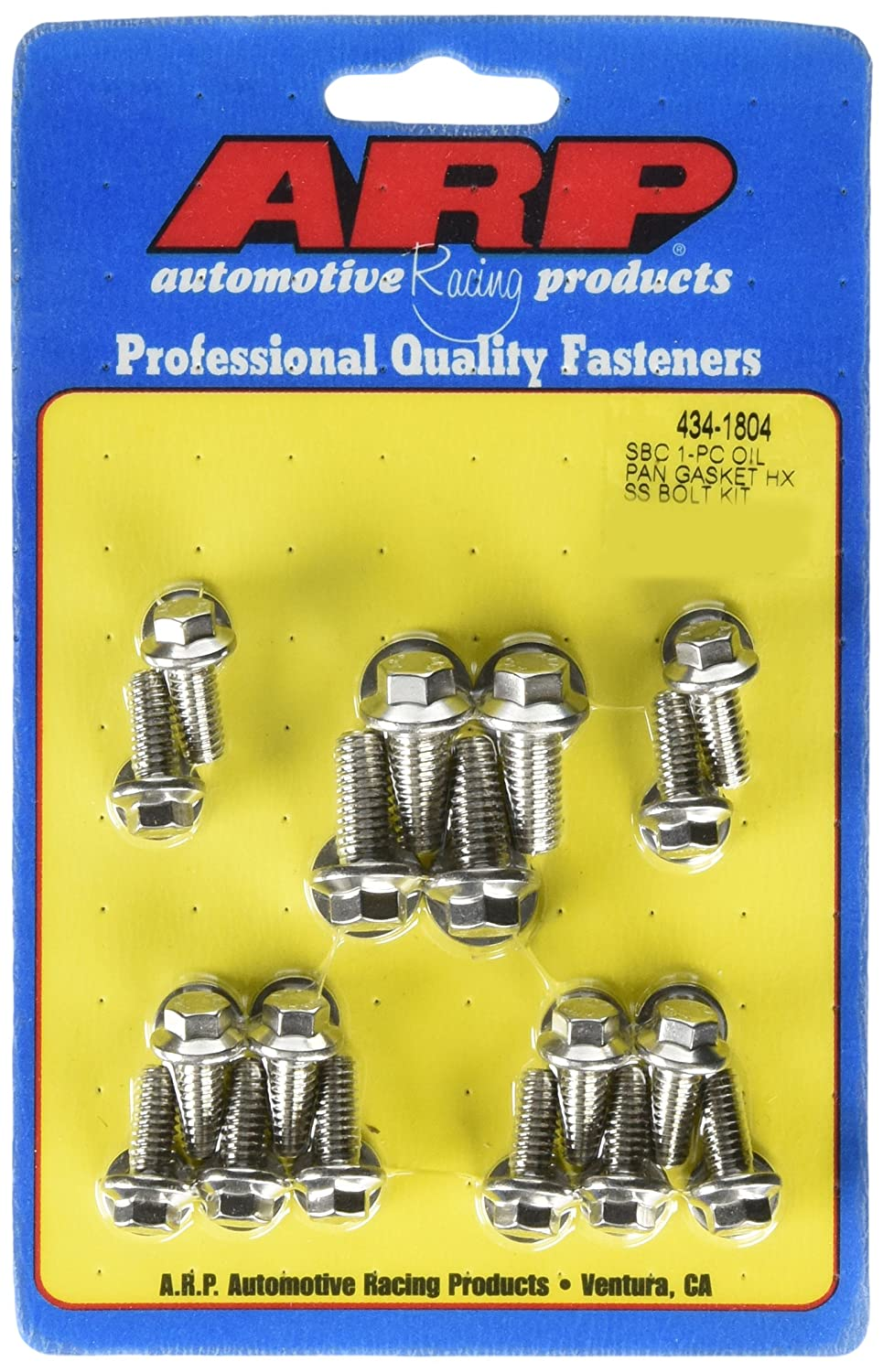 Amazon com: ARP 434-1804 Stainless Steel Oil Pan Bolt Kit for Small
