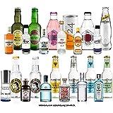 Gin Tonic Probierset 24 Flaschen - 12x Verschiedene Gin Sorten + 12x Verschiedene Tonic Sorten