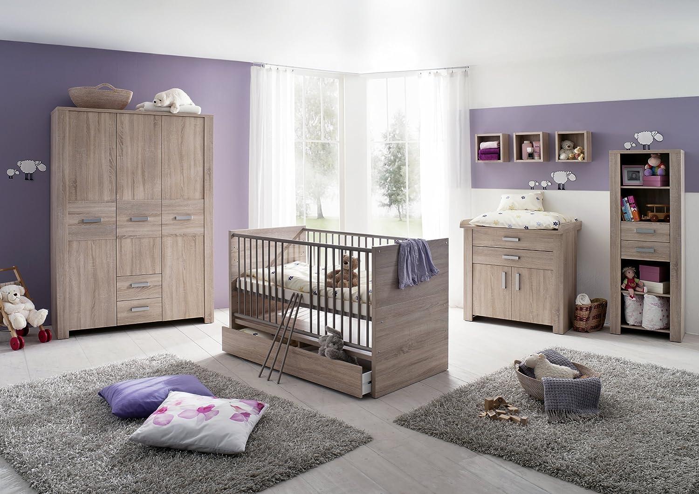Olek 7tlg Babyzimmer Kinderzimmer Schrank Wickelkommode Bett ...