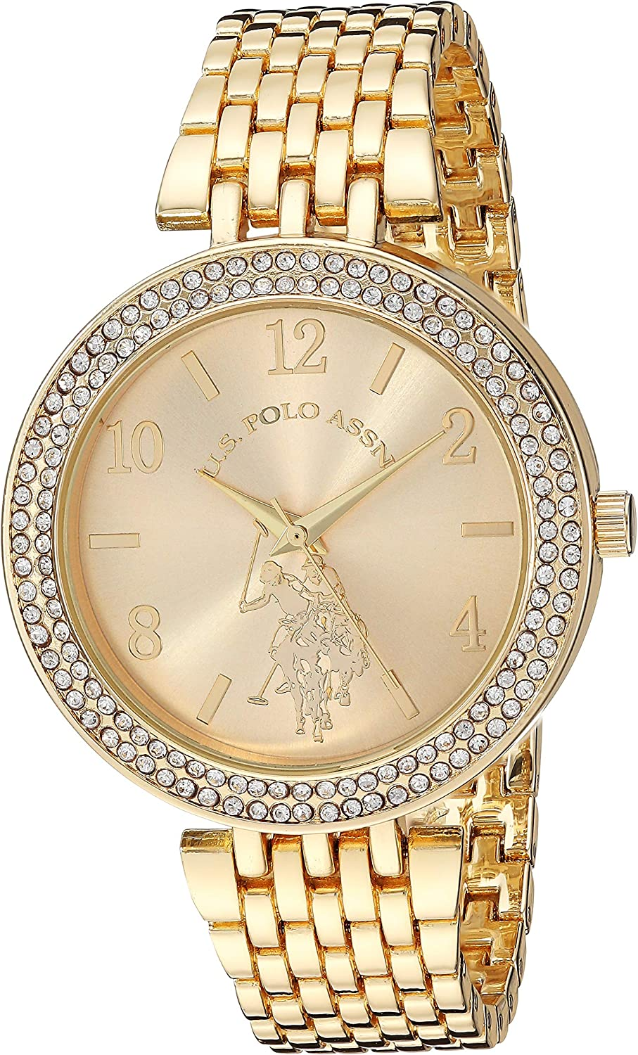 Amazon.com: U.S. Polo Assn. Women's Stainless Steel Quartz Watch ...
