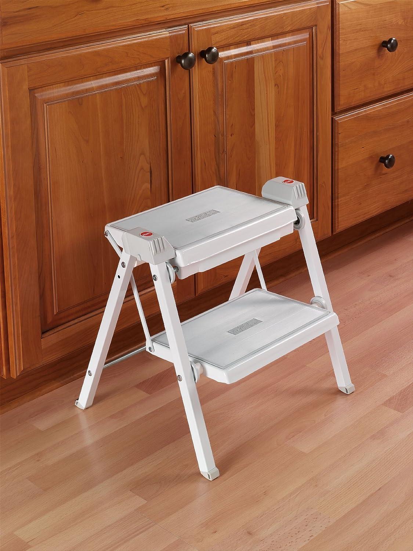 Brilliant Hafele Stepfix Step Stool White Gray Evergreenethics Interior Chair Design Evergreenethicsorg