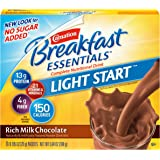 Carnation Breakfast Essentials Light Start Powder Drink Mix, Rich Milk Chocolate, 8-Count Box (Pack of 8 Boxes)