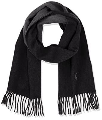 a4ad404260d4 Polo Ralph Lauren Reversible-Oblong Scarf-Wool, Echarpe Femme, Noir (Black