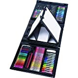 Art 101 Budding Artist 179 Piece Draw Paint and Create Art Set with Pop-Up Double-Sided Easel