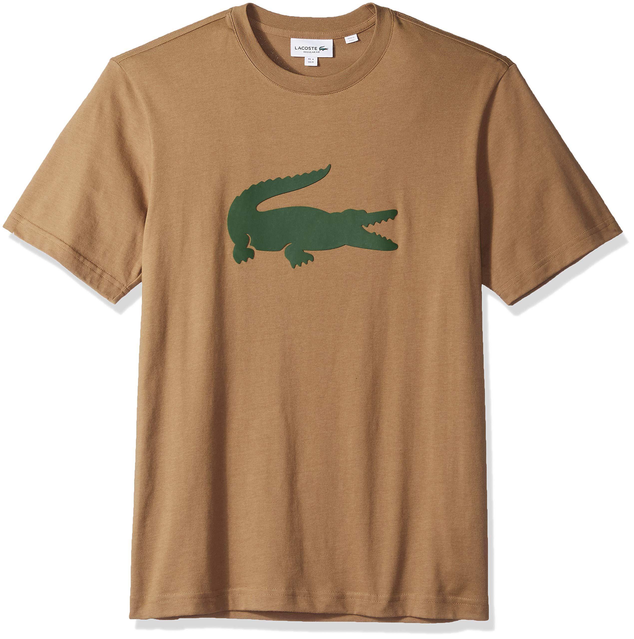 fc68a16b Galleon - Lacoste Men's Crew Neck Oversized Crocodile Cotton Jersey T-Shirt,  Dark Kraft/Green, 4X-Large