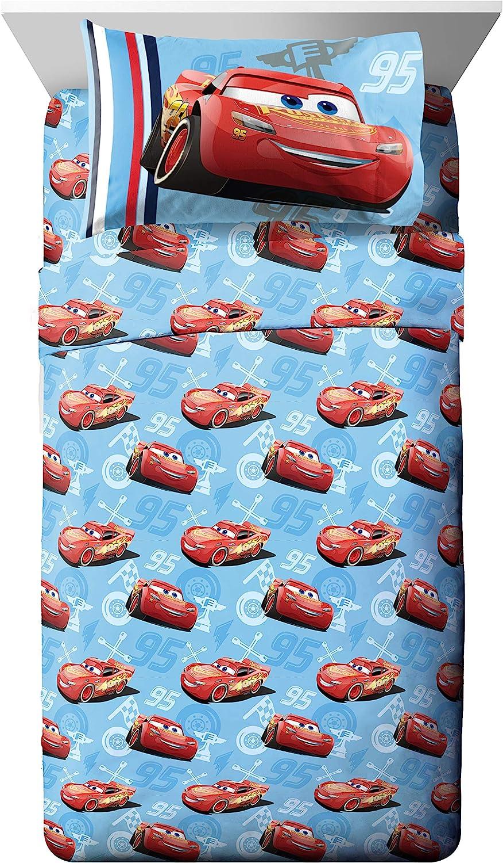 Jay Franco Disney Pixar Cars 95 3 Piece Twin Sheet Set, Classic