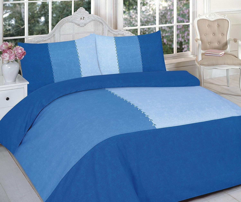 G&H羽毛布団カバー付きピローケース寝具セットPremium Designs 2019フレッシュコレクションサイズ:SINGLEスタイル:SUEDE PATCH BLUE   B07RNCQ96W