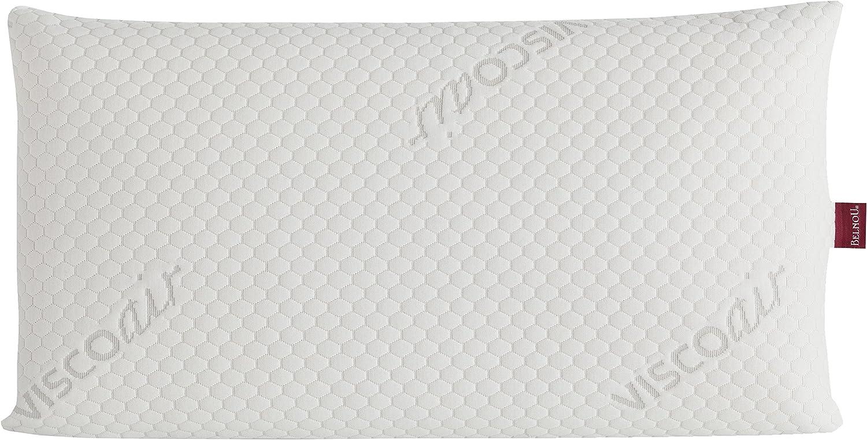 Belnou Almohada con Núcleo Viscogel, Algodón, Blanco, 120x45x17 cm