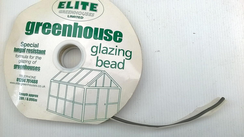 50/' rolls of neoprene bead in black 4 x Genuine Elite Greenhouses Glazing Seal