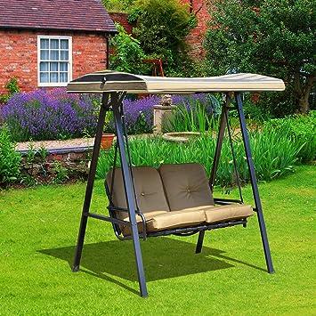 Balancelle de jardin 2 places grand confort coussins d\'assise et ...