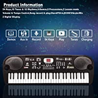 ESS EMM® 54 Key Electronic Musical Piano Keyboard with LCD Display, Adaptor, Microphone