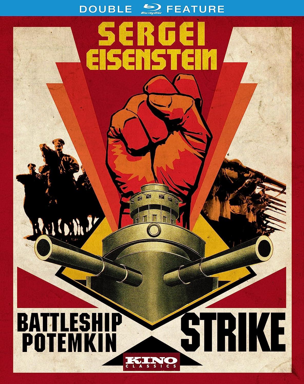 Sergei Eisenstein Double Feature: Battleship Potemkin & Strike [Blu-ray] Aleksandr Antonov Vladimir Barsky Grigori Aleksandrov Mongrel Media