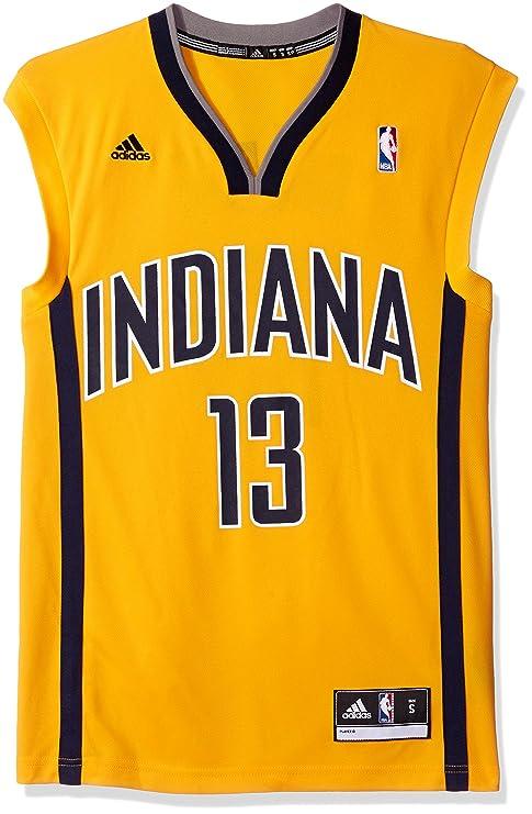 Adidas NBA Indiana Pacers Paul George # 24 la réplica de la Camiseta de los Hombres, Hombre, Dorado: Amazon.es: Deportes y aire libre