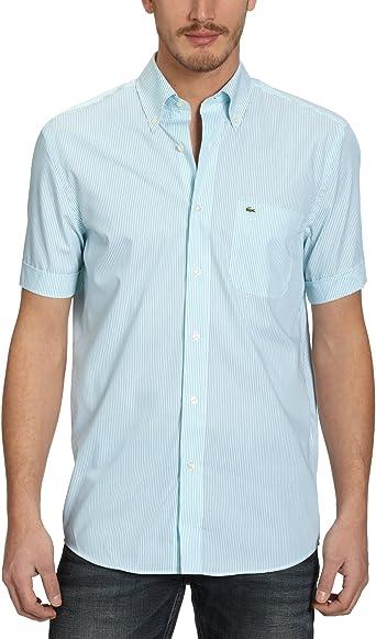 Lacoste - Camisa de Manga Corta para Hombre, Talla 42, Color ...
