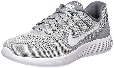 timeless design 878c4 beb94 Nike Damen WMNS Lunarglide 8 Laufschuhe Grau (Wolf White-COOL Grey 002),