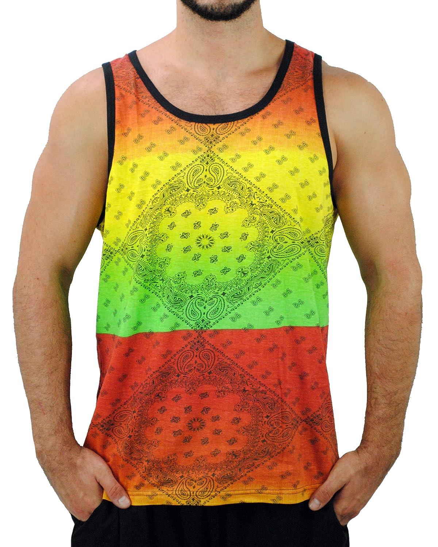 Exist Rasta Reggae Men's Flag Tank Top Shirt