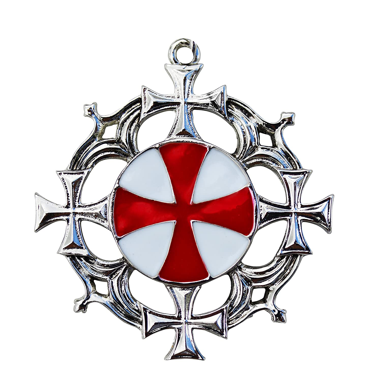 Deluxe Adult Costumes - Knights Templar Solar Cross Amulet Pendant