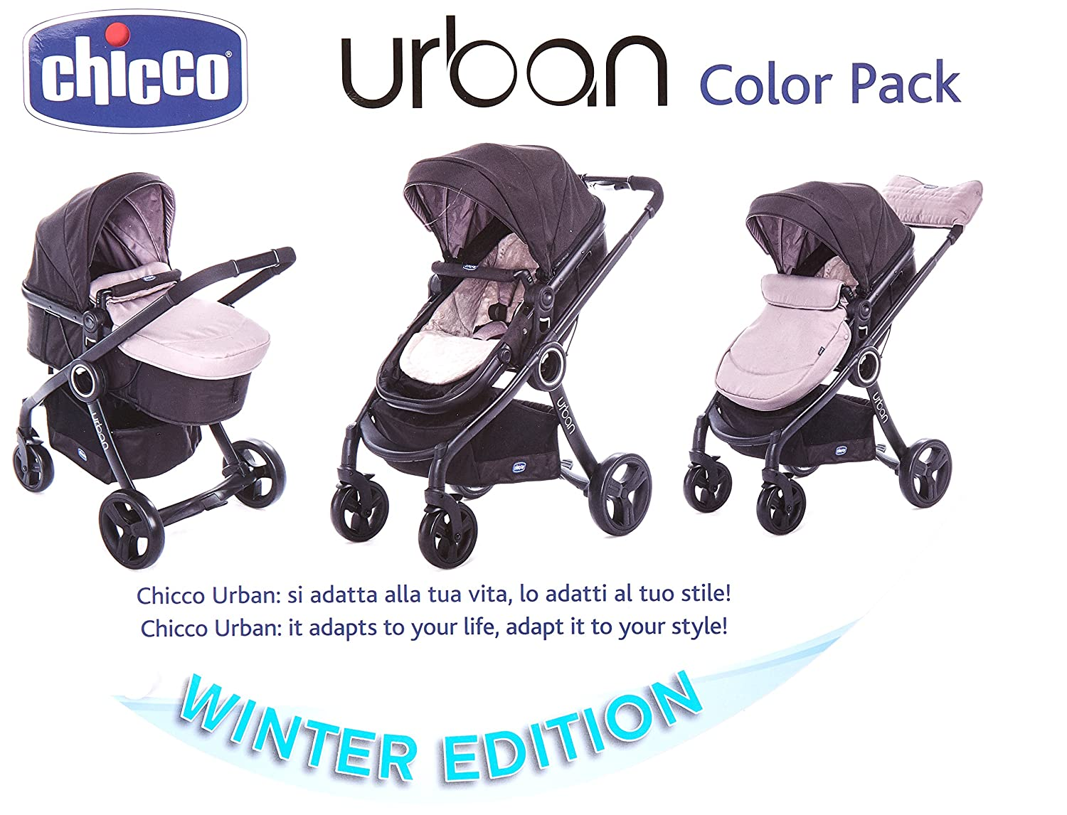 CHICCO 00079169120000 Color Pack Urban - Fundas para cochecito, color beige
