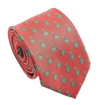 Michelsons of London Corbata de árbol de Navidad, color rojo ...