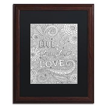 Amazon com: Trademark Fine Art Live Laugh Love by Hello Angel