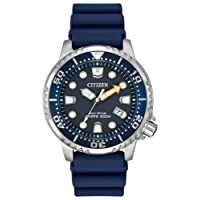 Citizen Men's Divers Eco Drive Watch with Blue Dial Analogue Display and Blue PU Strap BN0151-09L