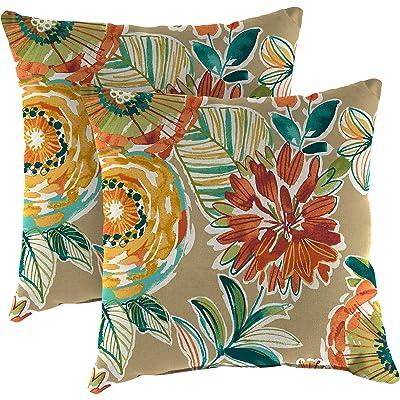Jordan 2PK 20in SQ TOSS Pillow COLS SO : Garden & Outdoor