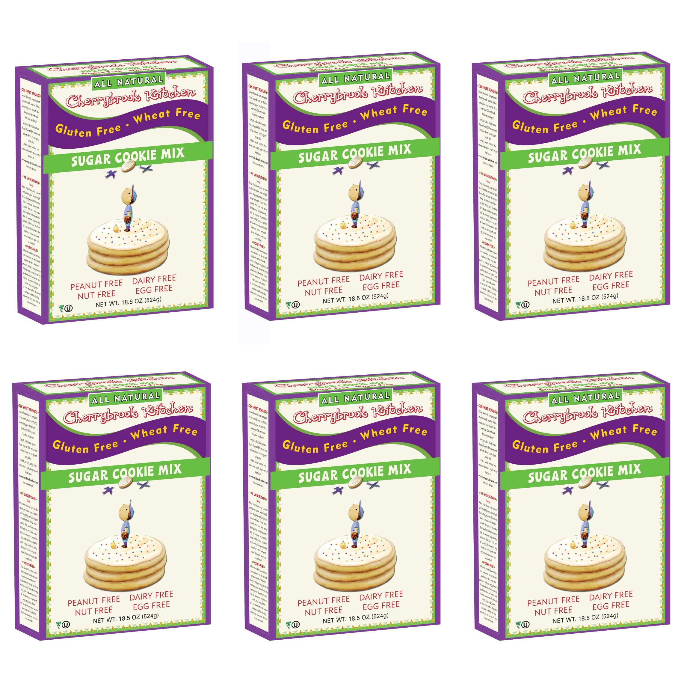 Cherrybrook Kitchen 20158 Gluten Free, Sugar Cookie Mix, 13-Ounce Boxes (Pack of 6)