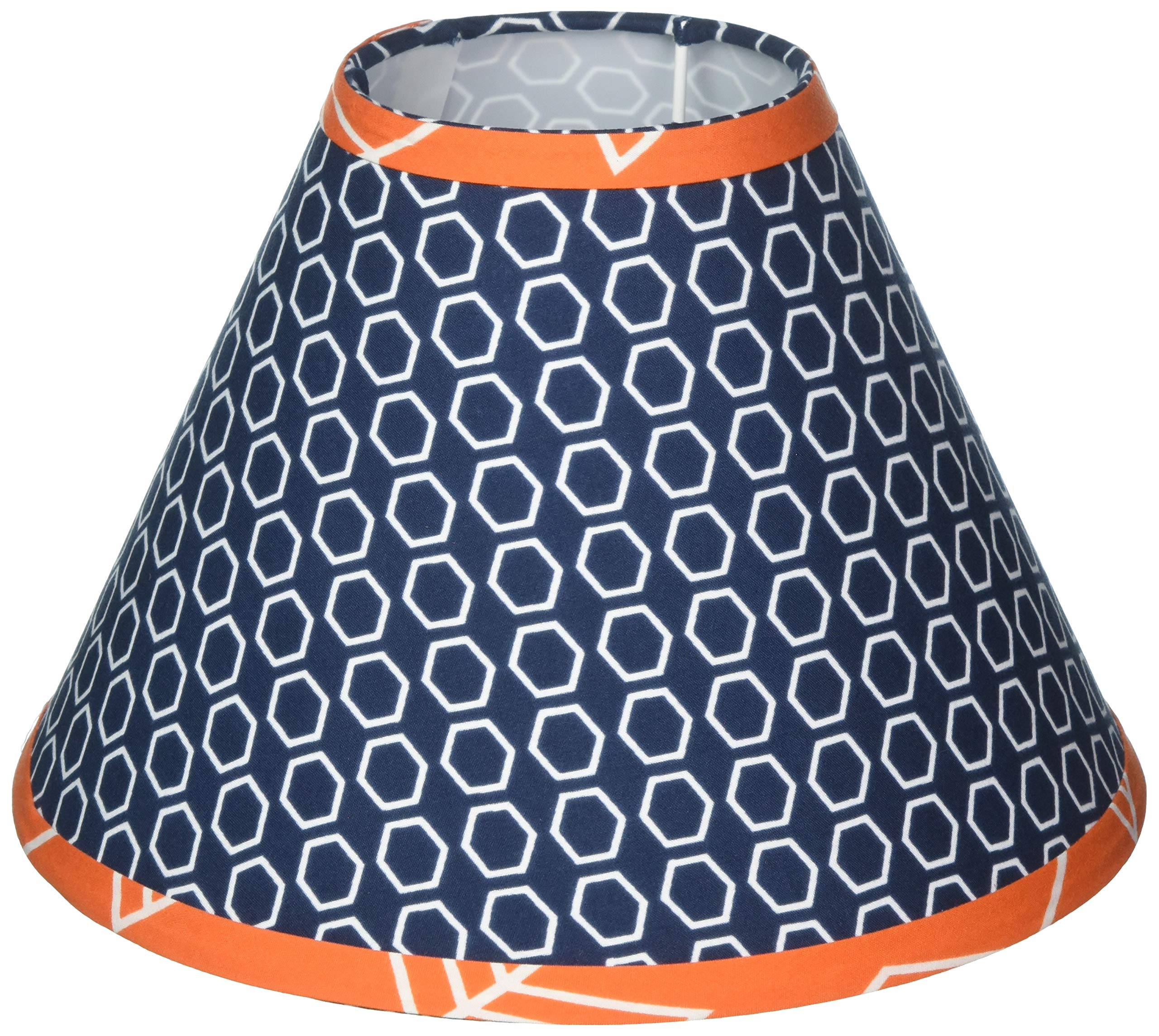 Sweet Jojo Designs Orange and Navy Blue Lamp Shade for Arrow Bedding Collection