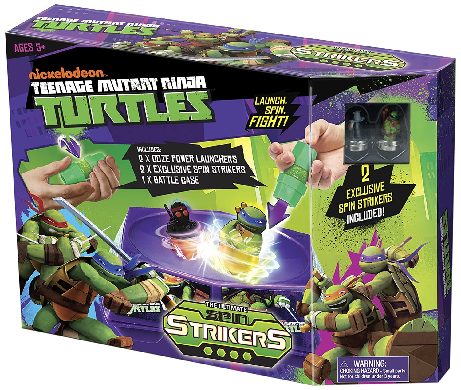 Tortugas Ninja - Spin Striker Battle Pack, playset de acción ...