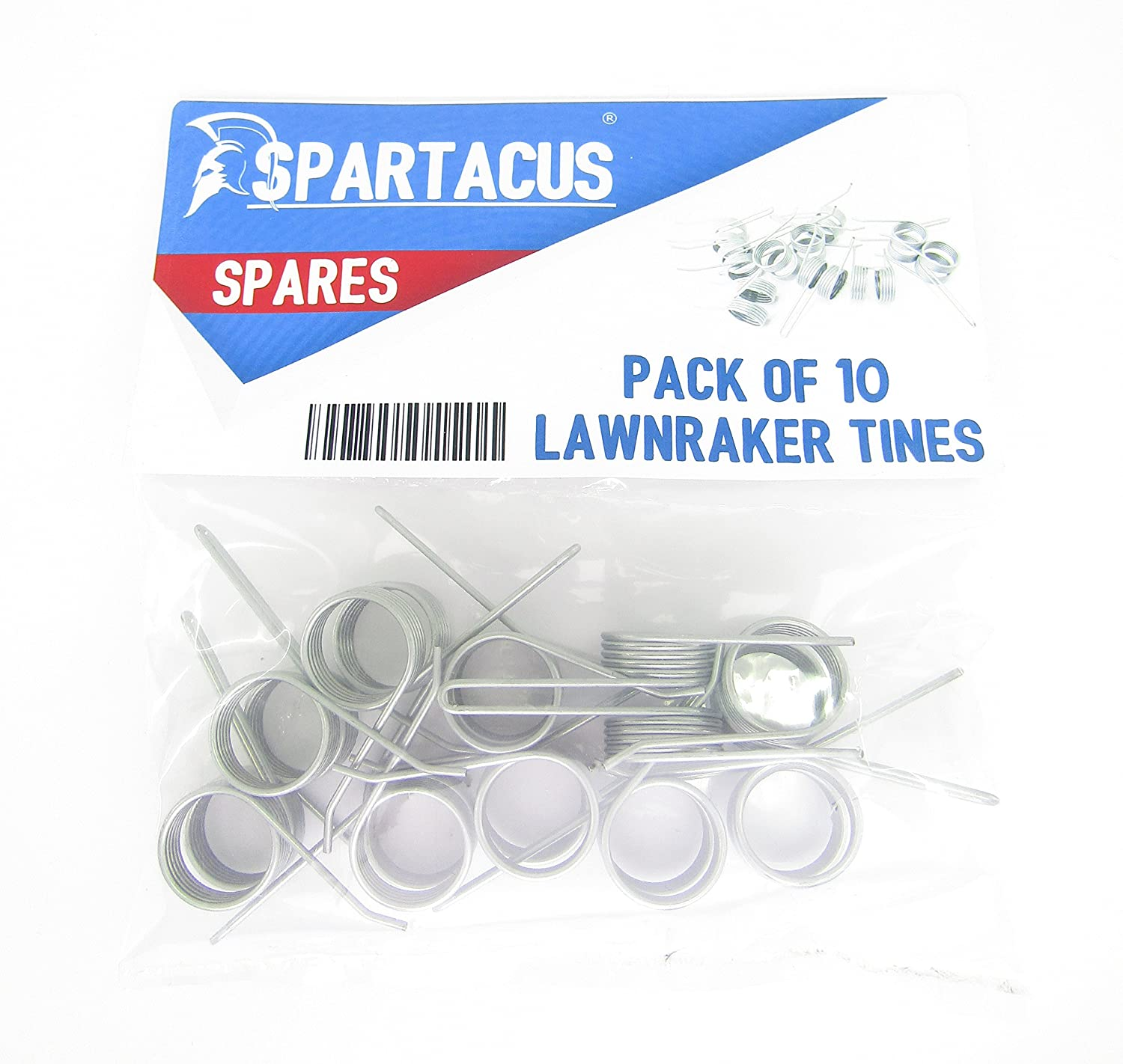 10 x Spartacus Replacement Lawn Raker Scarifier Tines Tynes For Bosch ALR900 Lawnrake