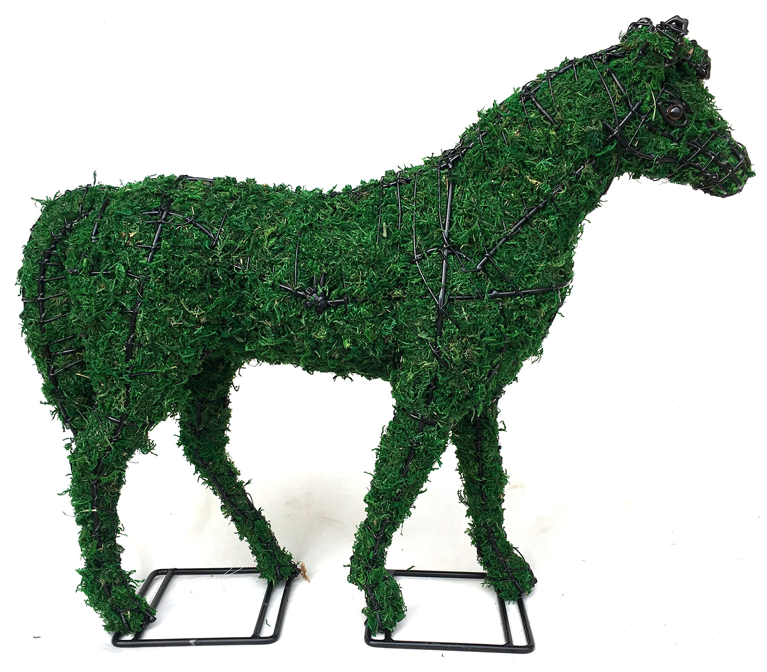 Topiary Horse 17'' Filled with Green Moss by A Green Horizon