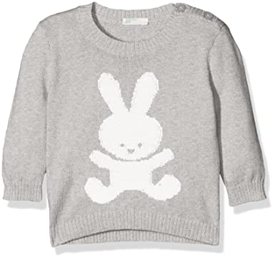 United Colors of Benetton Sweater L/s Cotton Blend, Sudadera para Bebés, Gris (Grey 501), 56: Amazon.es: Ropa y accesorios