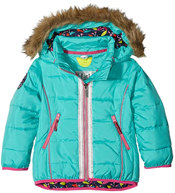 61bccf197679 Hatley Kids Girl s Nordic Petals Down Filled Ski Jacket (Toddler ...